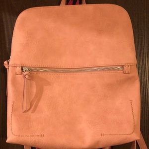 Handbags - Rose/Pink backpack purse! Super cute! Used once!